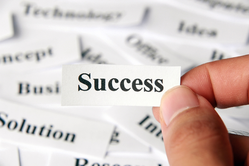 The word Success printed on a piece of paper